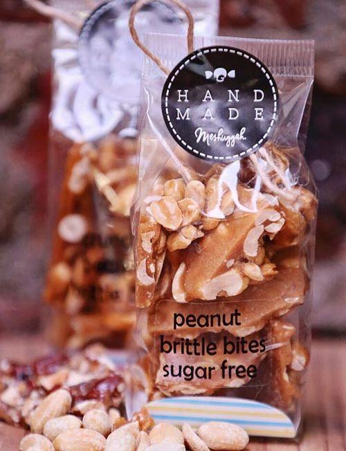 804011 - crunch peanut brittle bites sugar free