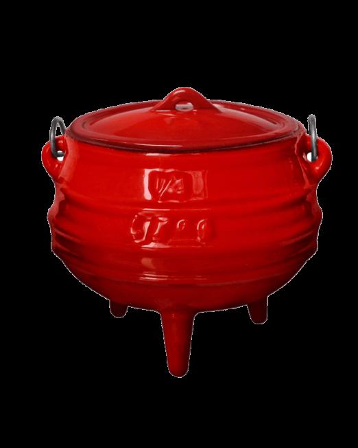 862381 145-3-Enamelled-Cast-Iron-3-legged-pots