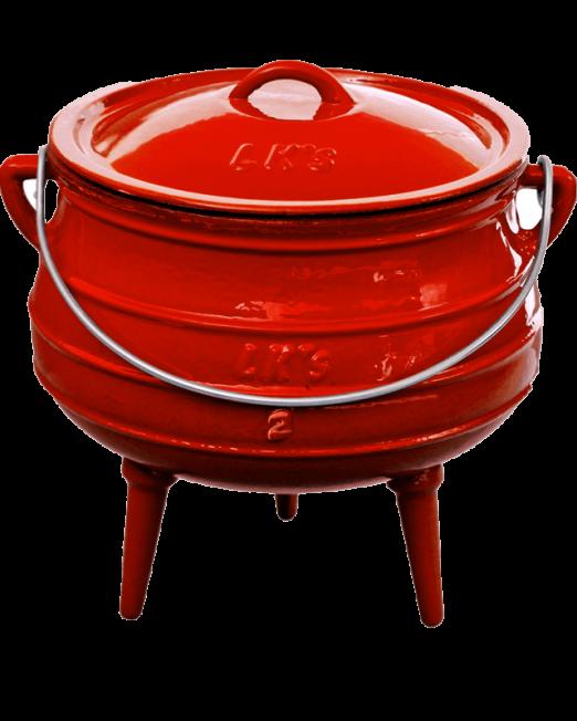 862382 145-1-no2-red-3-leg-pot