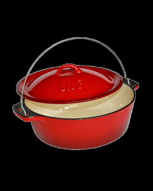 862635 145-20-Red-Enamelled-Bake-Pot