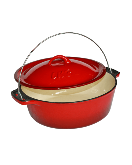 862636 145-21-Red-Enamelled-Bake-Pot