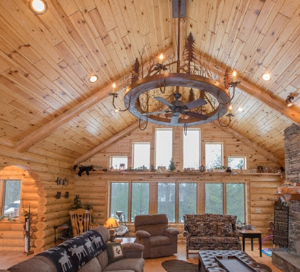 Pine Ceiling / Knotty pine